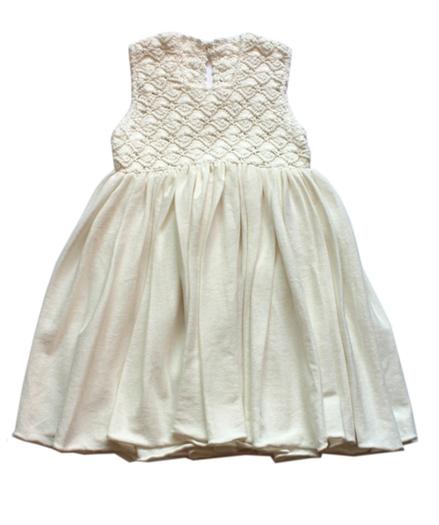 robe enfant blanc coton biologique – Cataleya