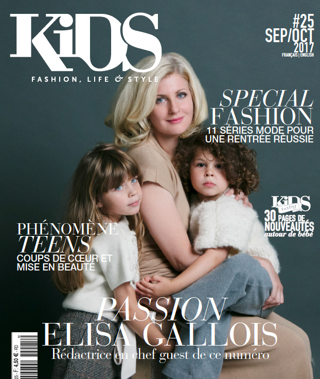KIDS magazine - Couverture septembre 2017 - Cataleya knitwear